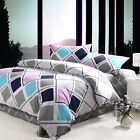 Checked Doona Duvet Quilt Cover Set Queen King Size Bed Pillowcases 100%Cotton