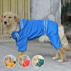 Large Dog RainCoat Clothes Pet Dogs Casual Waterproof Coat Jacket Plus Size HOT