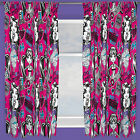 Monster High Fear Pink Black White Childrens Kids Ready Made Curtains