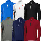 50%OFF ADIDAS GOLF 3-STRIPES PULLOVER MENS COVER-UP SWEATER -LOGO CHEST & SLEEVE