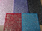Single Glitter Floral Pictures Peel Offs Red, Pink, Black Various Colours