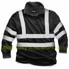 Long Full Sleeve Security Polo Collar Shirt Hi Viz Mens Reflective Work Safety