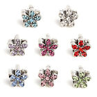 sterling silver charms European Swarovski crystal  charms UK glass beads #09