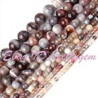 4-12mm Round Multicolor Botswana Agate Natural Stones Gemstone Beads Strand 15""