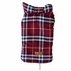 Large Dog Jacket Pet Clothes Puppy Winter Plaid Coat Vest Apparel Costume S-XXXL