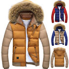 Top Designer Winter Men's Thicken Coats Hooded Fur Collar Jacket Padded Outwear