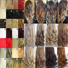 Clip in Hair Extensions Ombre Hair Two Tone Colored Synthetic Hair Extension MUY