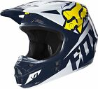 NEW 2016 FOX RACING V1 RACE SE MX DIRTBIKE OFFROAD HELMET WHITE/YELLOW ALL SIZES