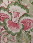 Brunschwig & Fils Upholstery Fabric Monsoon Floral Print Coral & Lettuce