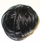 2MM ROUND VEG TAN COWHIDE LEATHER CORD BLACK BROWN NATURAL - TOP QUALITY