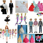 Formal Suit With Bowtie Wedding Groom Clothes Tuxedo Shoes for Barbie Ken Doll
