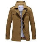 Winter Cotton Coat Single Breasted Size Jacket Soild Long For Men Outwear Top MO