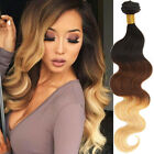 100% Human Hair Extensions World Fashion Color 1b/33/27# 7A Virgin Hair Weft