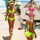 Women Sexy Swimsuit Bandeau Padded Bra Push-up Bikini Sets Swimwear Bathing Suit