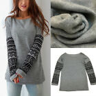 Women Fashion Loose Printing cashmere sweater Long sleeves T-Shirt Tops New Sale