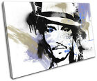 Johnny Depp Abstract Movie Greats SINGLE CANVAS WALL ART Picture Print VA
