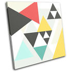 Geometric Triangles Abstract SINGLE CANVAS WALL ART Picture Print VA