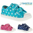 BRAND NEW GIRLS PLIMSOLLS PUMPS CANVAS SCHOOL SHOES INFANT TRAINERS BOOTS
