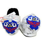 Nintendo Legend of Zelda 3D Shield Plush Slippers Adults Size S to LX