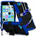 Shockproof Dual Layer Heavy Duty Case & Handsfree For Apple Iphone 5C