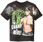% WWE John Cena Boy's Youth The Champ Is Here T-Shirt - Black