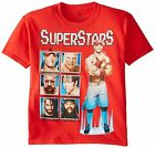 % WWE Superstars John Cena Brock Lesnar Triple H Little Boy's T-Shirt - Red