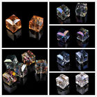 5pcs 13~14mm Multi Colors Faceted Cube Square Crystal Glass Findings Loose Beads
