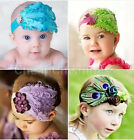 Kids Girl Baby Feather Flower Headband Hair Band Accessories Infant Headband New