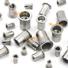 304 Stainless Steel Rivnut Insert Nutsert Flat Head Rivet Nut Threaded Multi NEW