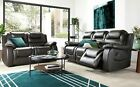 VANCOUVER Brown Leather Recliner Reclining Sofa Sofas Couch Suite Suites Range