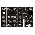 TA17 1 Sheet, 10 Sheets Body Art Tattoo Stencil Series-No.432-457