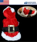 Christmas Gift Red Clothing Dog Costumes Santa Pet Clothes US Local Postage
