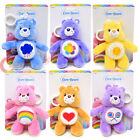 "Care Bears Plush Doll Key Chain 5"" Key Holder Clip On Grumpy Share Cheer Funshin"