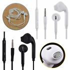 Stereo Earphone In Ear Auricolare Microfono Vivavoce Bianco 3,5mm per Various