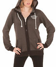 Jack Daniels Hoodie Old Number 7 Classic Logo Official Womens New Grey Zipped