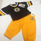 Reebok Boston Bruins 2 Piece Jersey and Pants Set Infant Toddler Sizes NHL New