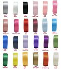 "2y 75mm 3"" Double Sided Faced Premium Heavy Satin Ribbon Sashes Extra Wide Eco"