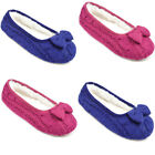 Slumberz Women's Knitted Bow Ballet Slippers