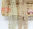 2 Yards Polyester Flower Embroidered Applique Lace Trim Sewing Handicrafts FL63