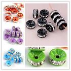 Clear Crystal Rhinestone 1.5mm Hole Rondelle Spacer Loose Beads Jewelry DIY