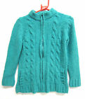 Ladies Ex Chain Store green zip fastening cardigan