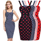 NEW VINTAGE 50'S STYLE PENCIL WIGGLE PARTY DRESSES SIZE 4-18 BP COTTON BALL GOWN