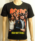 Highway To Hell AC/DC New Metal Rock Black Printed T-Shirt  Sizes