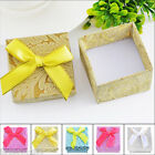 3PCs Paper Square Bowknot Ring Box Jewelry Package 01 Gift 5.1x5.1x3.5cm