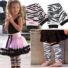 Baby Children Boys Girls Arm Leg Warmers Socks Zebra Pattern Legging M510-511
