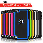 Heavy Duty Tough Armor Hybrid Hard Case Cover for Apple iPod Touch 5 6 Gen