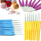 8 Size Plastic Handle Aluminum Crochet Knit Hook Knitting Needle DIY Set 2.5-6mm
