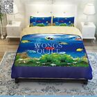 Sea World King Queen Double Bed Quilt Doona Cover Pillow Cases Set Duvet Covers