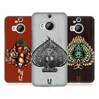 HEAD CASE DESIGNS WINGS AND SPADES HARD BACK CASE FOR HTC PHONES 2