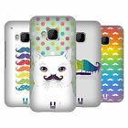 HEAD CASE DESIGNS RAINBOW MOUSTACHE HARD BACK CASE FOR HTC PHONES 1